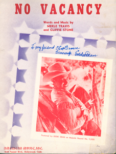 EDDIE DEAN Sheet Music